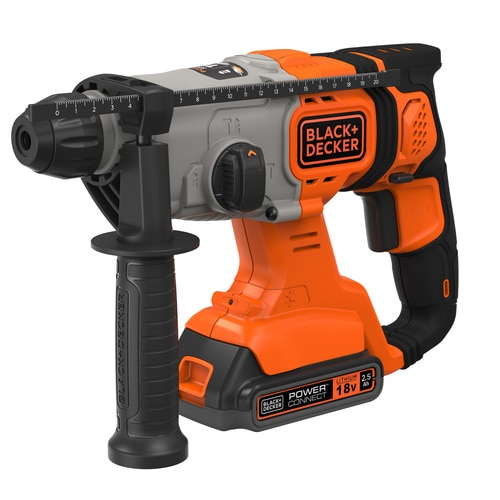 Black and Decker - 18V 25Ah SDSPlus Borrhammare med kitbox - BCD900E2K