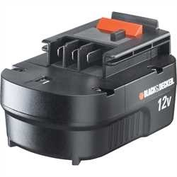 Black and Decker - Slidepackbatteri 12V - A12