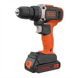Black and Decker - 18V Lithiumion 2 vxlad borrskruvdragare med 1x15Ah batteri  400mA - BCD002C1