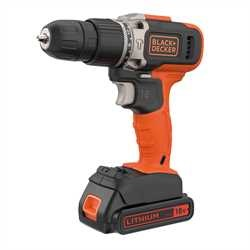 Black and Decker - 18V lithiumion 2G slagborrmaskin med 2x15Ah batterier med 400mA laddare - BCD003C2K
