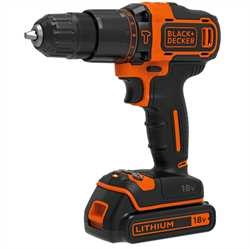 Black and Decker - 18V LiIon 2G slagborrmaskin med 15Ah batteri och en 200mA laddare - BDCHD18