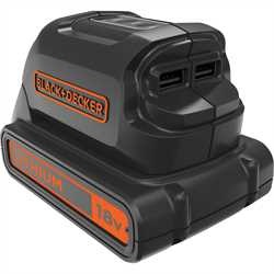 Black and Decker - 18V USBladdare - BDCU15AN