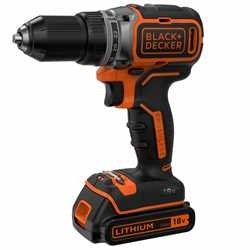Black and Decker - 18V LiIon kolborstfri borrskruvdragare med tv batterier och laddare 400mA i kitbox - BL186KB