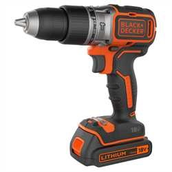 Black and Decker - 18V LiIon  kolborstfri slagborrmaskin med tv batterier och laddare 1A i vska - BL188K1B