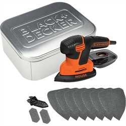 Black and Decker - 120W NG slipmus med 10 tillbehr och pltlda - KA2000AT