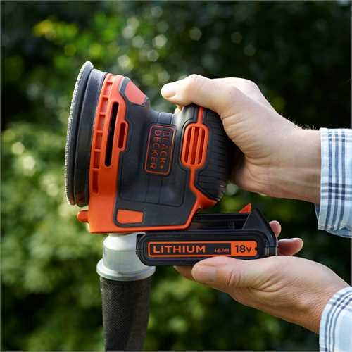 Black and Decker - 18V 15Ah Lithiumion sladdls oscillerande slipmaskin - BDCROS18