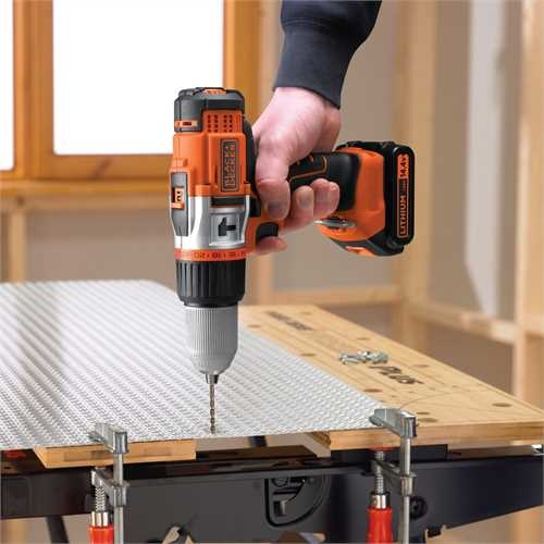 Black and Decker - 144V HP LiIon Slagborrmaskin - EGBHP148BK